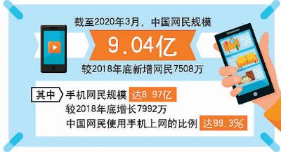 中国网民超过9亿