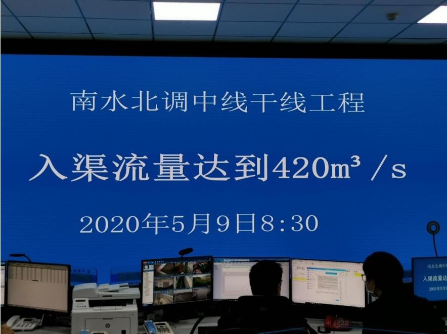 南水北调中线工程首次以设计最大流量输水 向京津冀豫输水290亿立方米